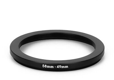 58 mm - 49 mm Filter Adapter Step-Down Adapter Filteradapter Step Down 58-49