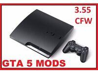 CHEAPEST PS3 3.55 SLIM 120GB DEX GTA 5 MENU (MONEY DROP) FULLY WORKING 10 GAMES CHEAP SWAP S6 EDGE