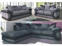 == ROYAL FURNISHING'S BRAND NEW DINO LEATHER JUMBO CORD CORNER OR 3+2 SOFA SET ==