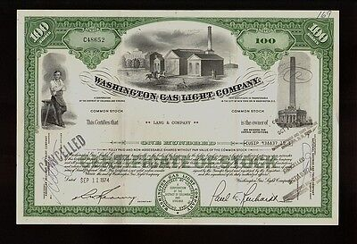 Washington Gas Light Co  Issued To Lang   Company Dd 1974