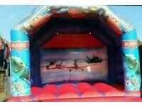 Cars/planes bouncy castle