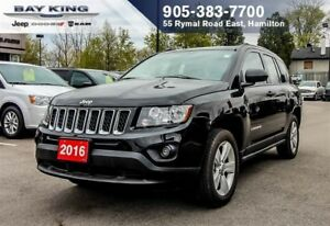 2016 Jeep Compass SPORT 4X4, MANUAL, A/C, 17 ALUM WHEELS