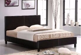 == Choice Of Colours == BRAND NEW FAUX LEATHER BED FRAME AND MATTRESS DOUBLE/SINGLE