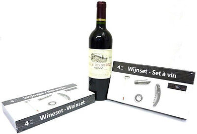 Wine Set, Wine Accessories, Wine Gift Set, Corkscrew, Spout, Wine Thermometer