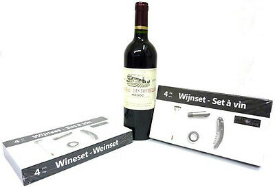 Wine Set, Wine Accessories, Wine Gift Set, Corkscrew, Spout, Wine Thermometer