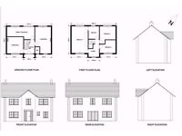 Extension plans drawn, single/double storey, planning applications, building regulations