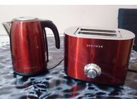 Dunelm Spectrum Red Kettle and Toaster