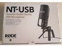 Rode NT USB Microphone fully boxed all acc