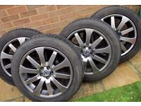 """Freelander 2 - 4 x 19"""" Chrome Shadow Alloys + Pirelli Winter Tyres fitted + Continental Summer Tyres"""