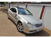 * 2002 51 Mercedes C200k Auto Coupe *