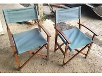 Pair of wooden Directors Chairs