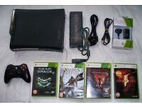 Xbox 360 elite with 120gb hdd, controller, controller battery and games!!!
