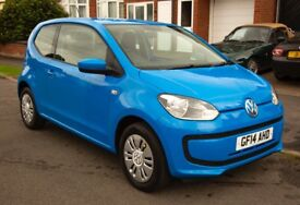 VW UP 3 door 1.0 petrol Blue great condition Volkswagen cruise control Air Con