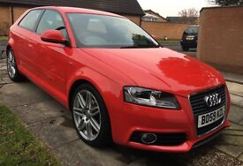 """Audi A3 S Line 2.0 TDI Leather 18"""" Alloys Excellent Condition £7699 ono"""