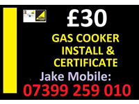 £30---- Gas Cooker Installation & safety Certificate ----£30 Registered fitter plumber birmingham