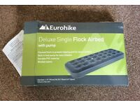 SINGLE AIRBED INFLATABLE MATTRESS EUROHIKE CAMPING