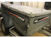 Erde 142 5ft trailer with cover