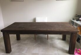 AWESOME Chunky Reclaimed-Wood English Farmhouse Rustic Dining Table