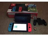 Nintendo Switch 32GB Neon with Zelda Breath of the Wild