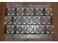 Natural stone stone mosaic border tiles.