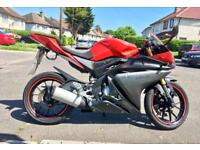 YAMAHA YZF-R125 2016 ABS MODEL RED EXCELLENT RUNNER VERY LOW MILES FSH AND 1 OWNER SINCE NEW