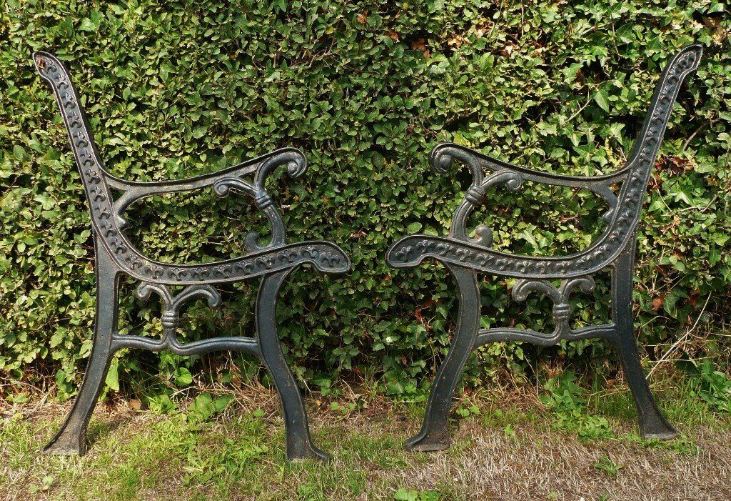 Cast Iron Garden Bench Seat Ends Upcycling Project In