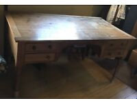 Large, Solid, Old Pine Desk - Office or Home use