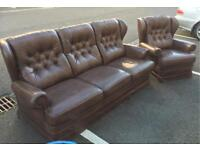 Chesterfield Style Sofa and Chair