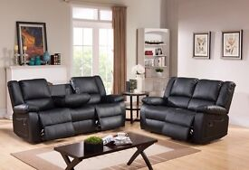 Toronto Brown BRAND NEW Leather Recliner Sofas