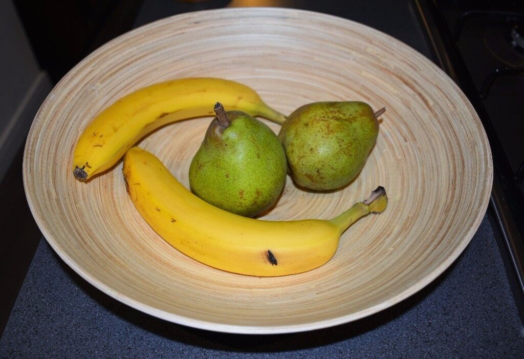 Spun Bamboo Fruit Bowl