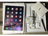 TOTAL MINT CONDITION iPAD AIR 2 6GEN 4G 16GB UNLOCKED ANY NETWORK IN BOX WITH BRAND NEW ACCESORIES