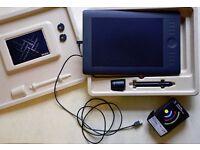 Wacom Intuos Pro Medium Graphics Tablet. Plus additional Wacom ACK-40401-N Wireless Accessory Kit.