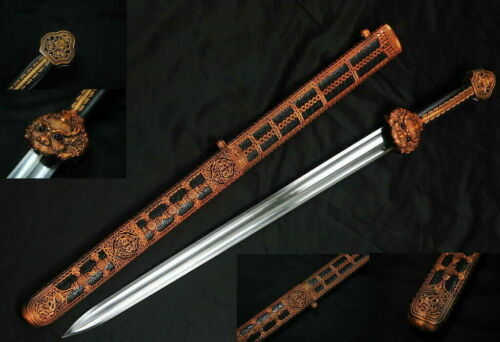 "38"" Dao Collection 65Mn Spring Steel Handmade Chinese Yong Lo Full Tang Sword"