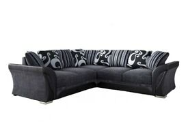 🍁 Furniture On Sale🍁 -SHANNON SOFA FABRIC & FAUX LEATHER LEFT / RIGHT CORNER/3+2 SEATER-CALL NOW
