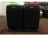 Pair of Sony 2-way Speakers