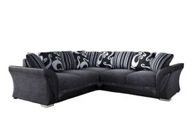 SHANNON 3 AND 2 SEATER SOFA OR CORNER SOFA SET - SWIVEL CHAIR -
