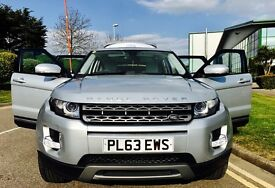 2013 63 LAND ROVER RANGE ROVER EVOQUE 4WD PURE S SILVER 5dr Diesel, Full Service History