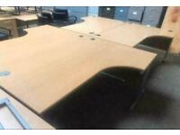 1800mm Right Curved Desk Beech