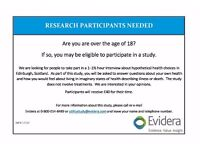 Paid Research Participants Needed in Edinburgh