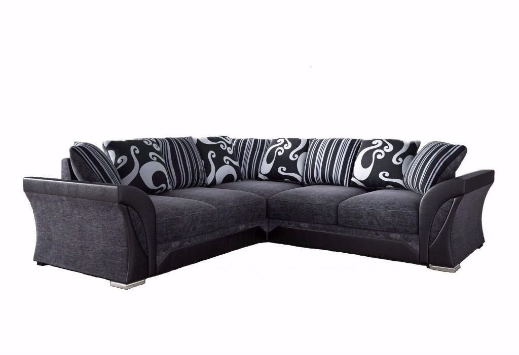 Ed Deal Italian Style Shannon Corner Sofa High Quality Fabric 3 2 Sets