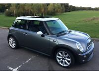 2002 Mini Cooper S, low mileage for year, full leather, panoramic sunroof, 6 cd changer