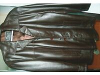 Mans Medium Quality leather coat.
