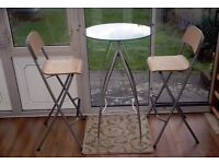 IKEA breakfast bar chairs fold away flat (table is not included)