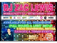 Mobile Party DJ - Available - Full Sound & Light Disco Setup