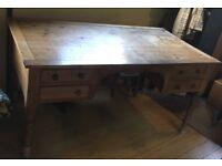 Large solid old pine desk