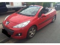 Peugeot 207 2010 Convertible Sports CC 1.6L petrol, 63k miles, MOT 01/2017, Alloys, not 307 206 clio