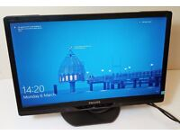 """**PHILIPS 22"""" BRILLIANCE LCD MONITOR WITH LED BACKLIGHT**PERFECT CONDITION**USED ONCE**BARGAIN !!**"""