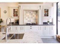 Kitchen Showroom Unit Run Ex Display - Painted Ash Shaker Door, Mussel