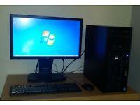 GAMING Computer HP Z420 Intel Xeon 3.7GHz 250gb SSD 500gb HD 24GB Ram Nvidia Desktop PC LED kit