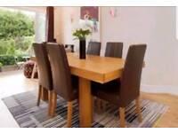 John Lewis large oak table